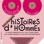 Affiche thêatre histoire d'hommes Xavier Durringer
